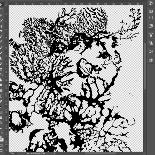 Digital Design - Pattern designs for sculptures are first drawn digitally.