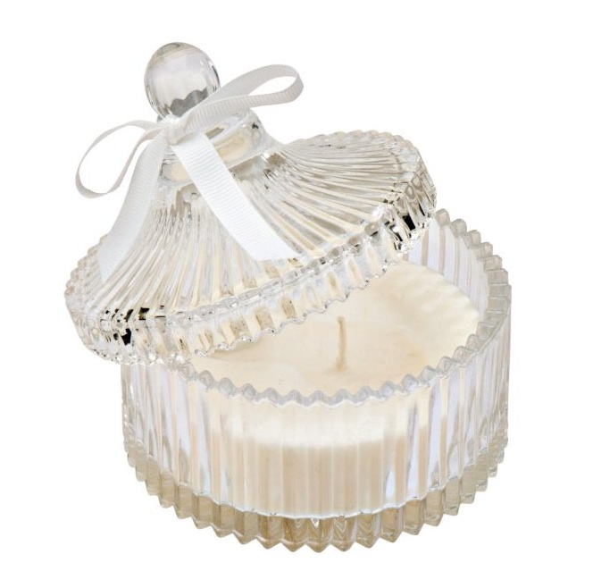 Love this #46: Fluted glass jar candle