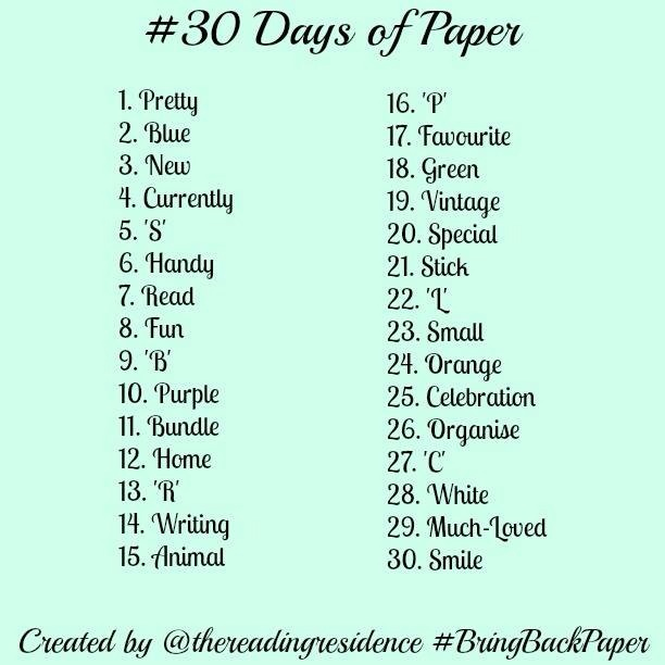 A recap of #30daysofpaper (so far)