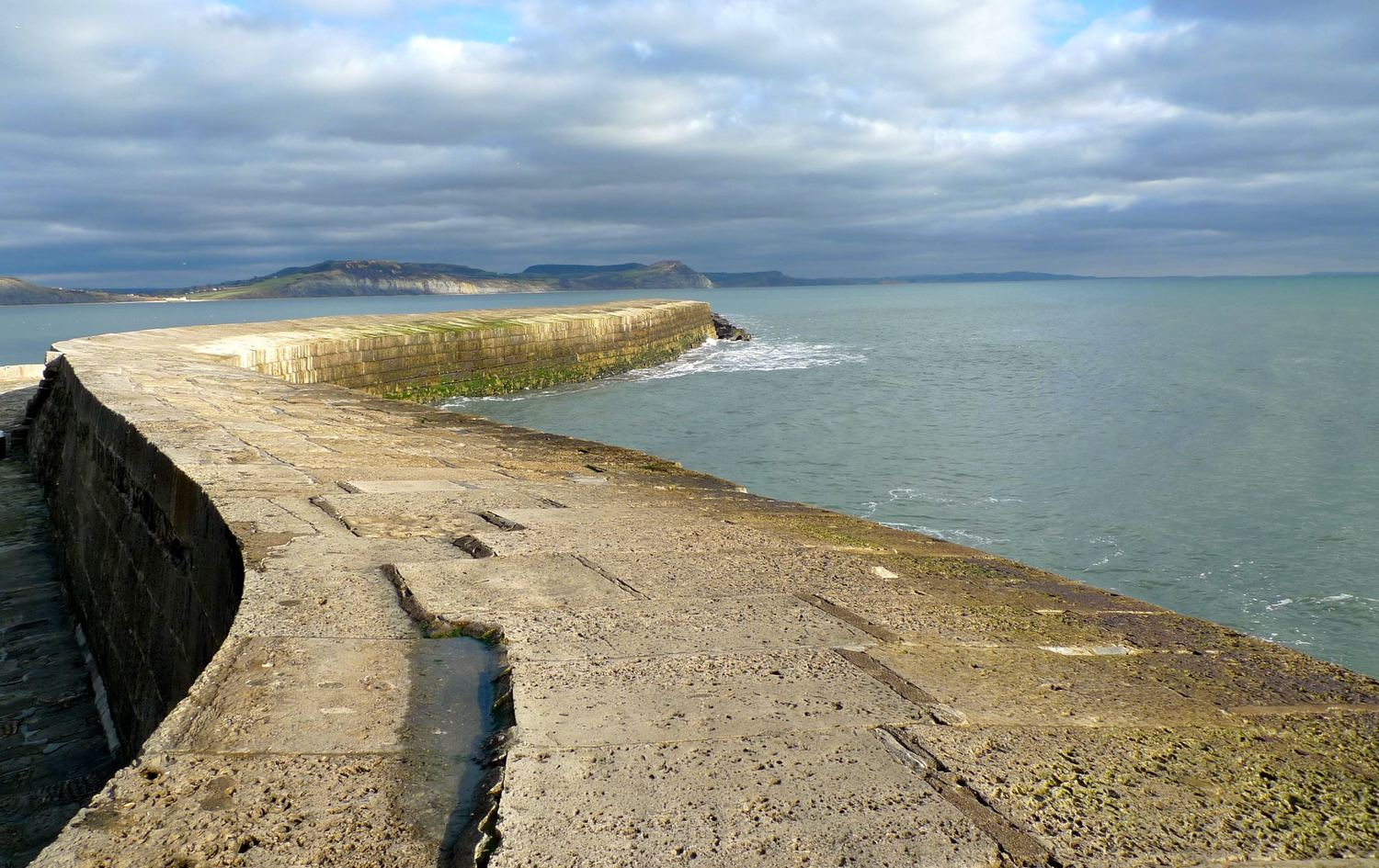 Sun on Saturday: The Cobb at Lyme Regis