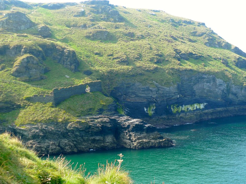 LOOKING BACK AT TINTAGEL CASTLE