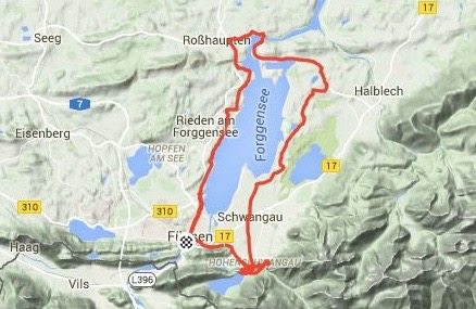 THE 34KM CIRCULAR ROUTE FOR DAY 1'S RIDE