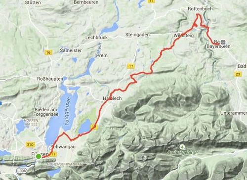 Back on the bike and cycling to Bad Bayersoien