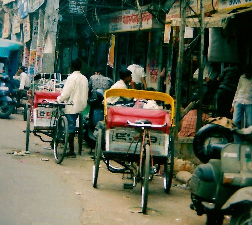 RICKSHAWS IN DEHLI