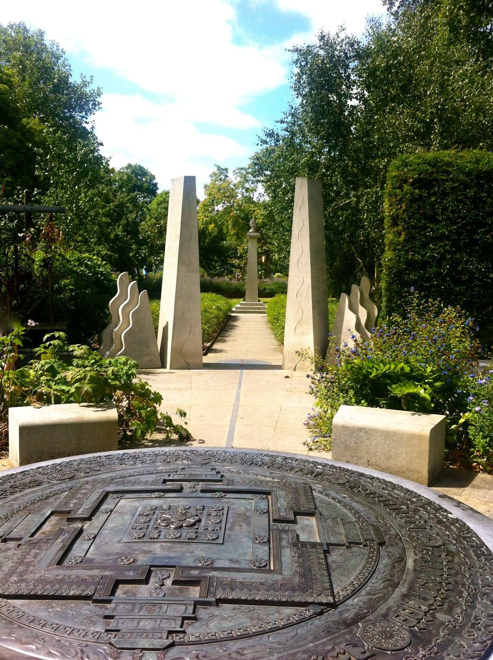 The Tibetan Peace Garden at the Imperial War Museum