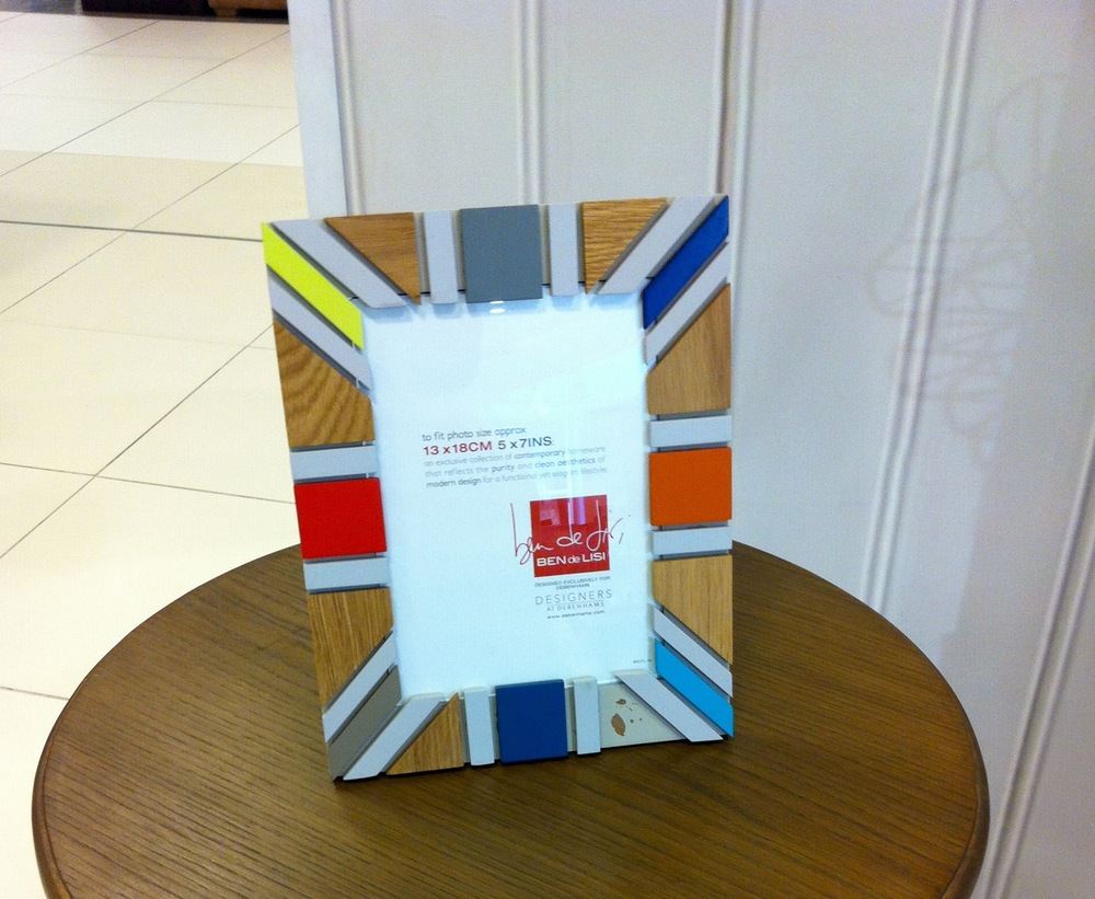 A COLOURFUL PICTURE FRAME IN DEBENHAMS