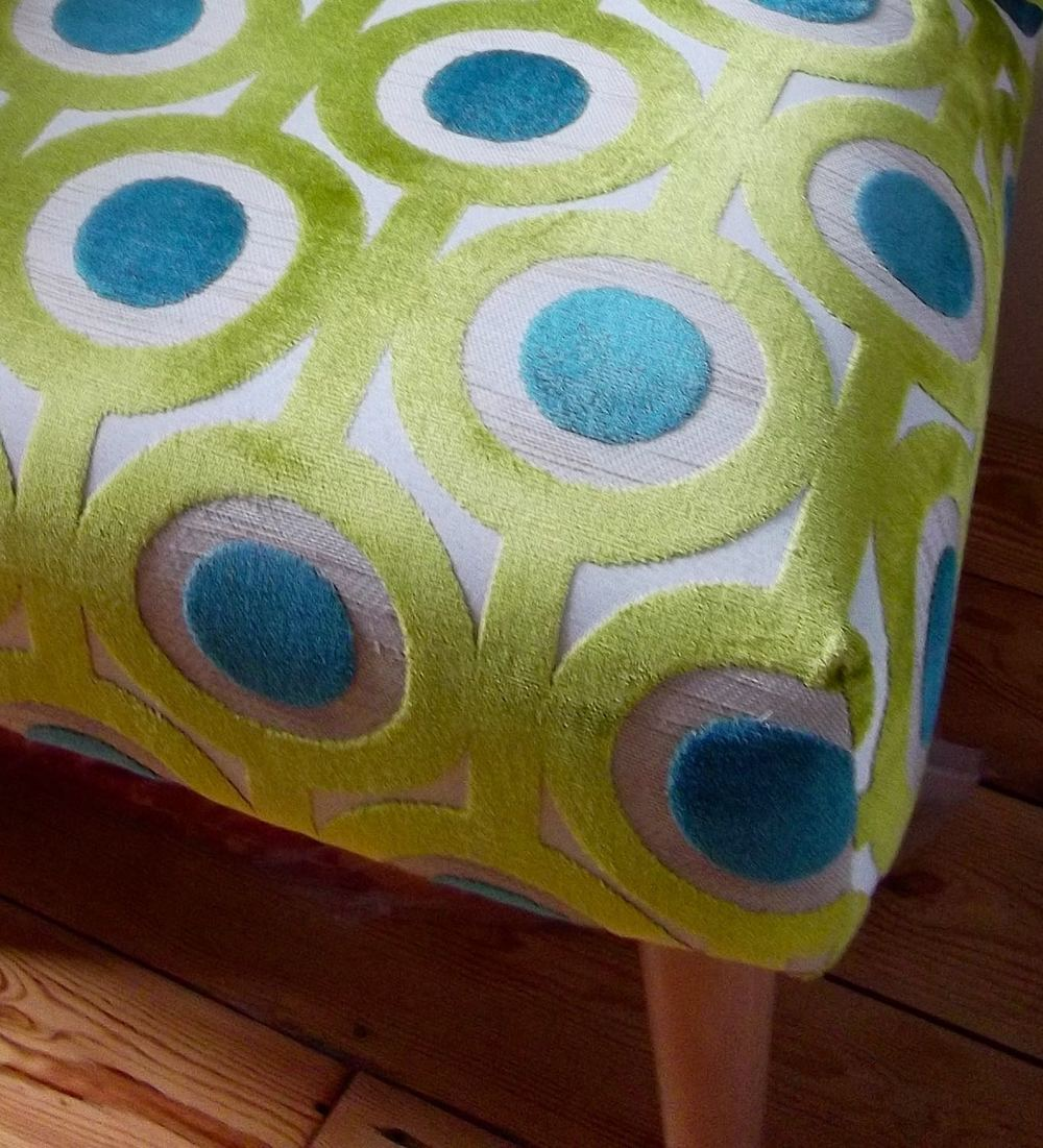 MY QUIRKY GREEN AND BLUE CHAIR