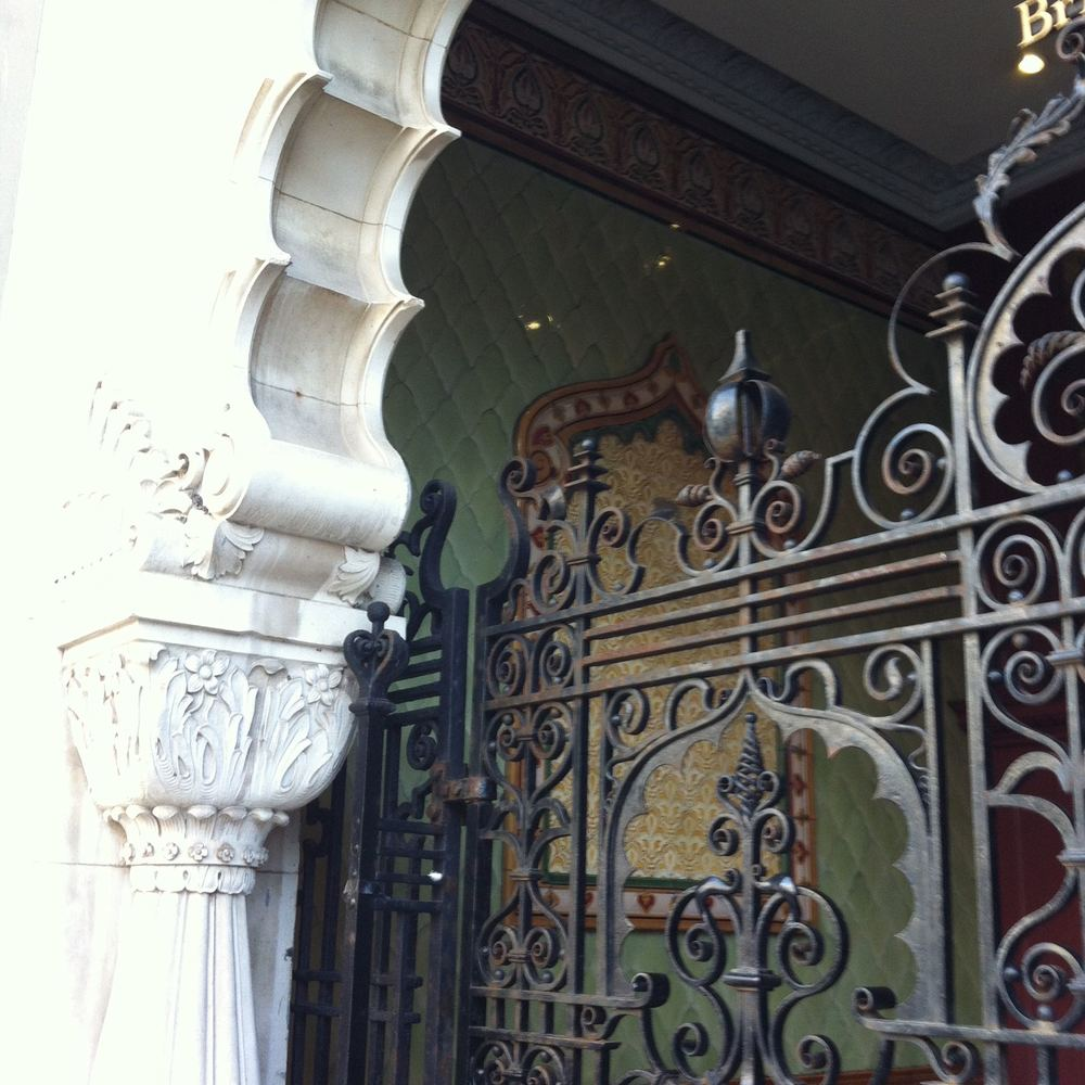 ADMIRING THE IRONWORK IN BRIGHTON