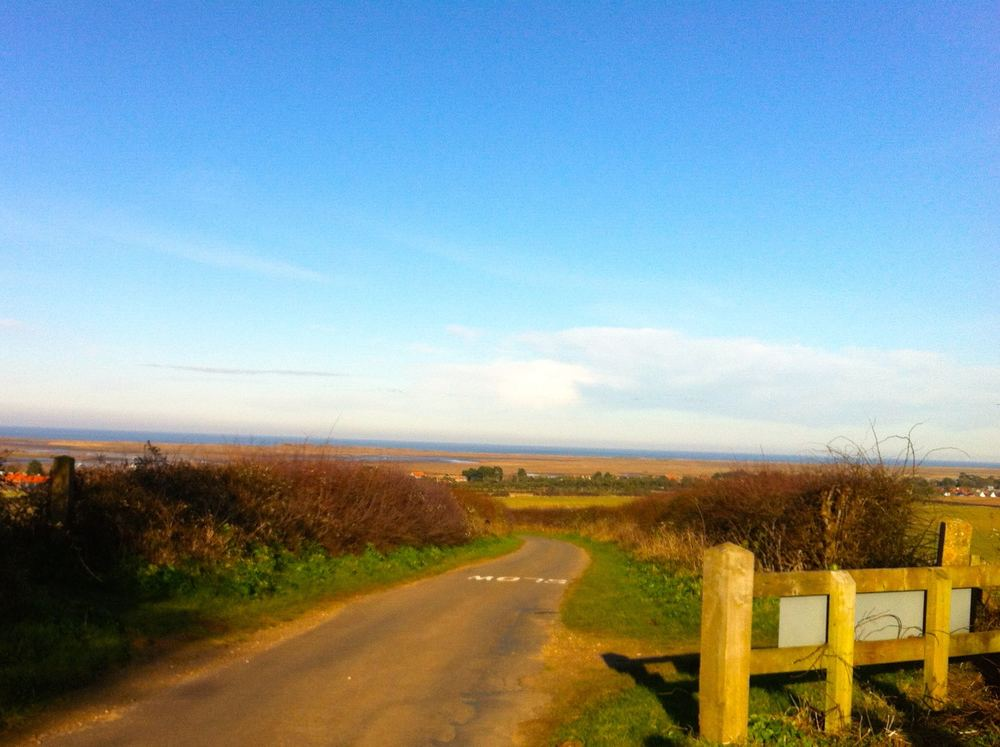LOOKING DOWN TO BRANCASTER ON THE NORTH NORFOLK COAST