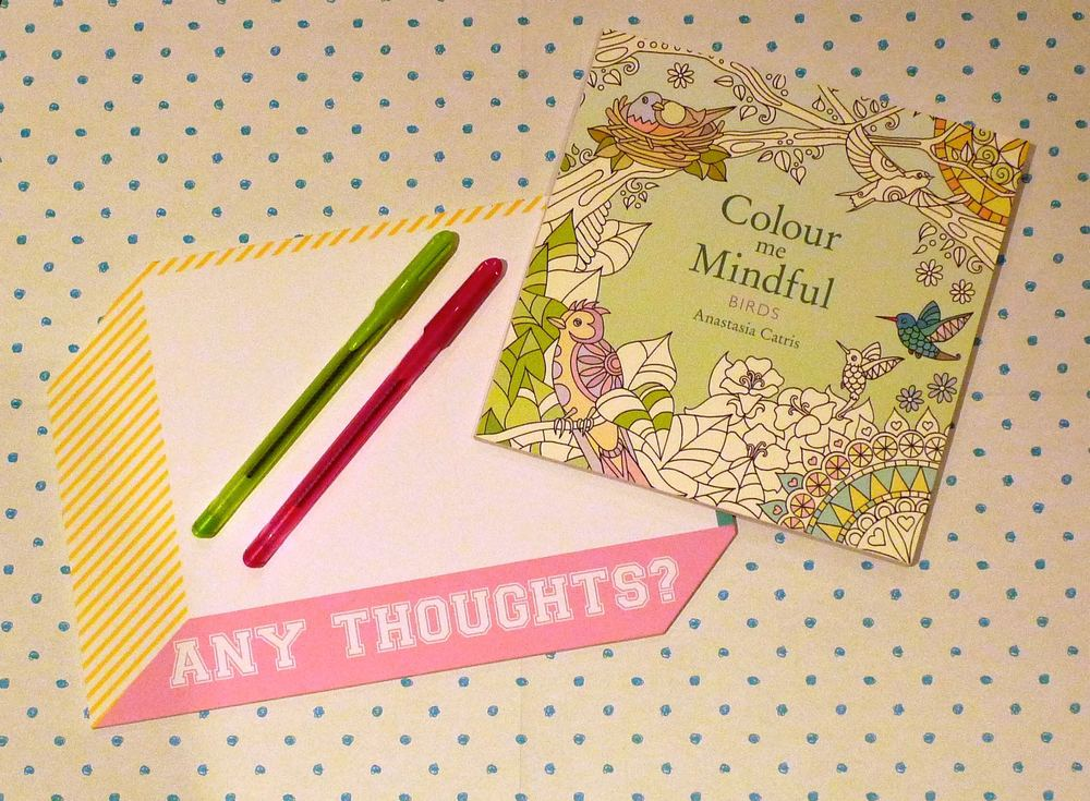 scribble block and colouring book