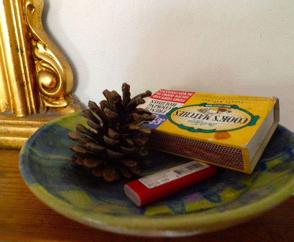 matches on the mantelpiece