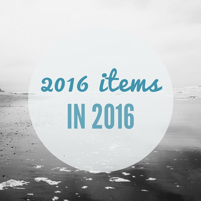 2016 items in 2016