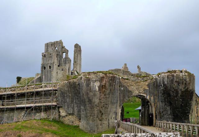 Scaffolding Corfe Castle