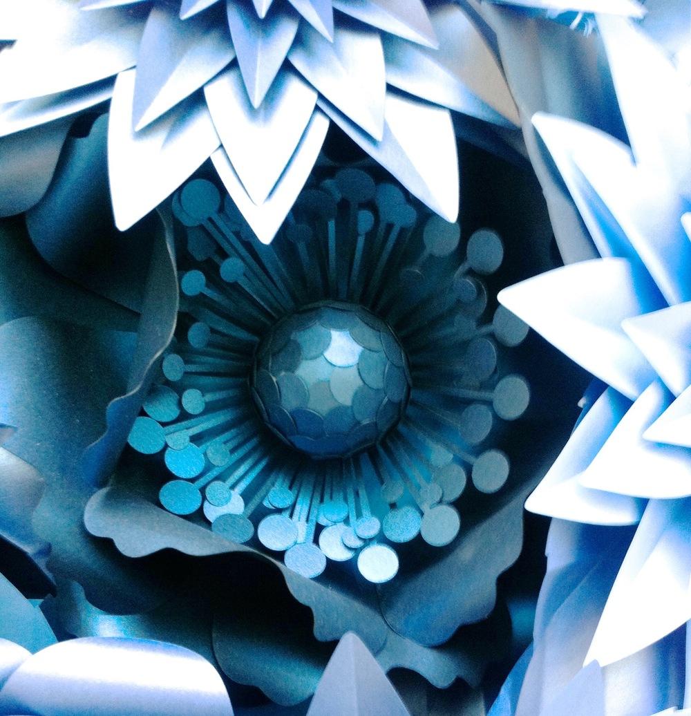 floral paper close up