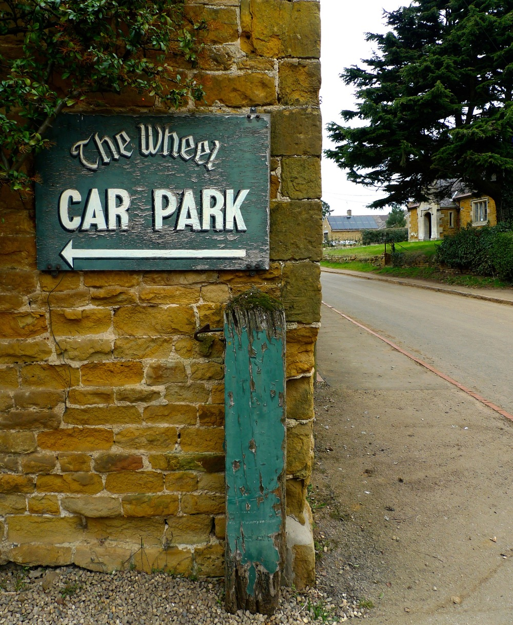 THE WHEEL INN CAR PARK SIGN