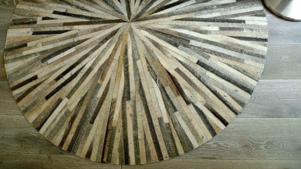 circular hide rug