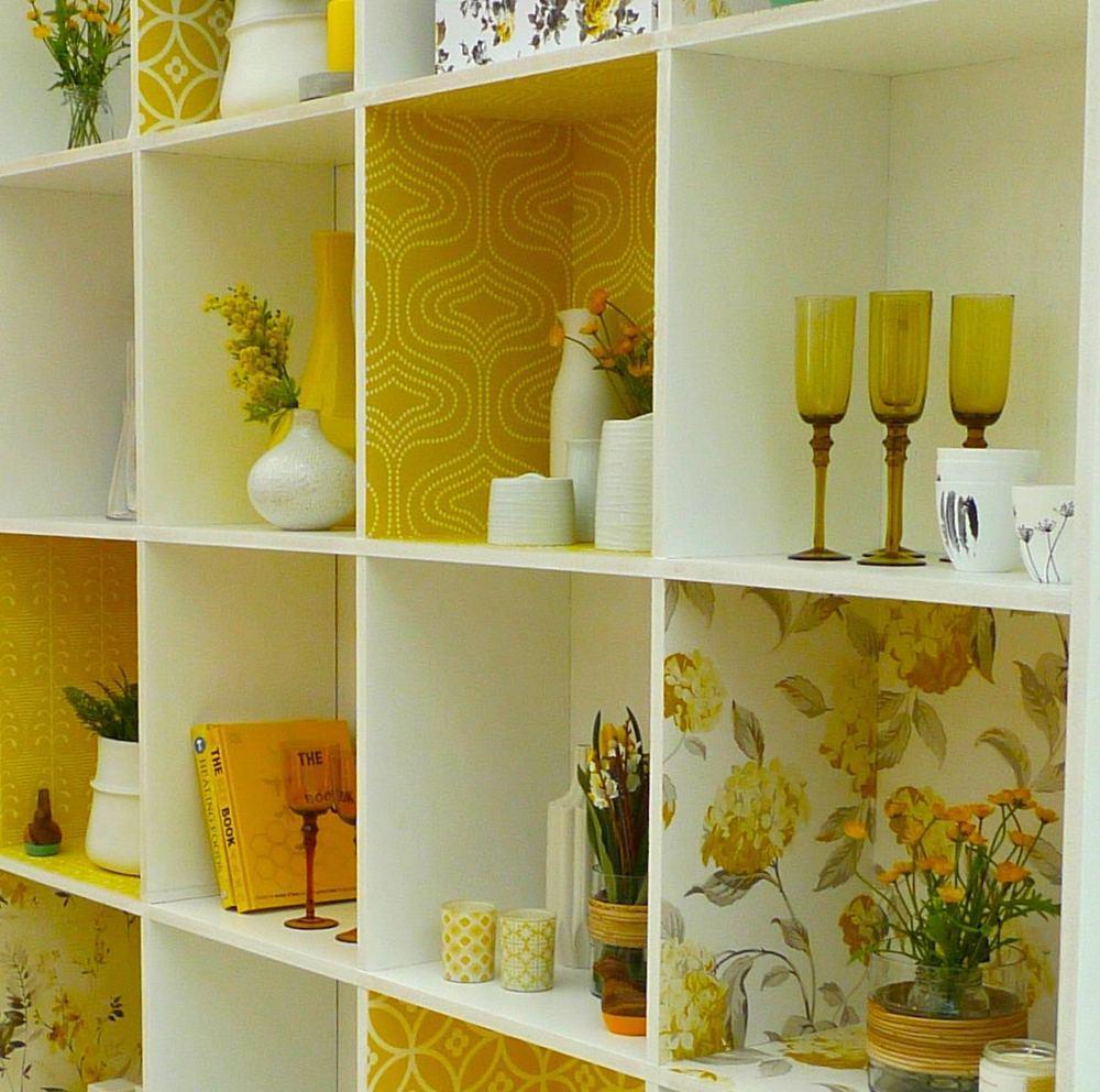 decorated storage unit close up