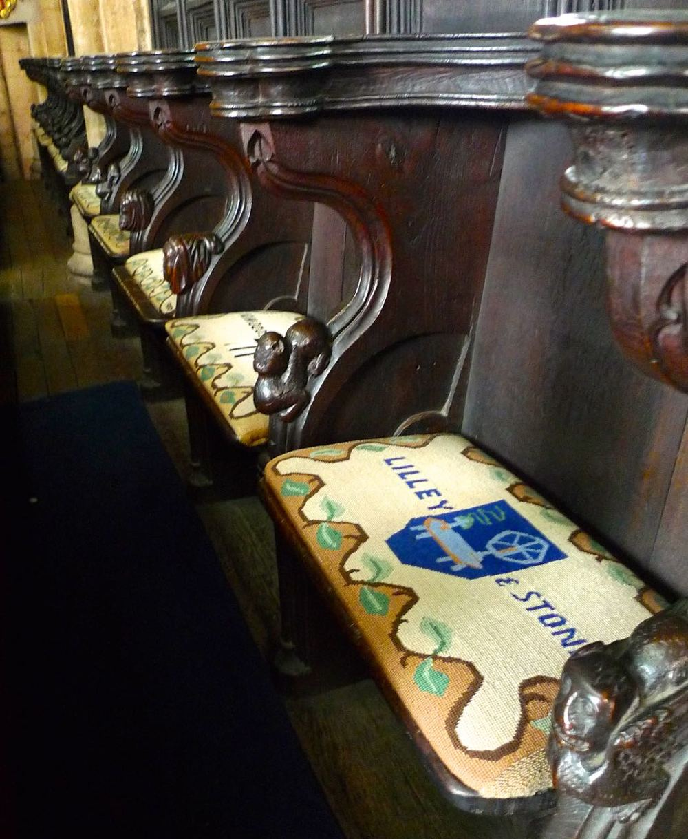 A CLOSER LOOK AT THE CHOIR STALLS