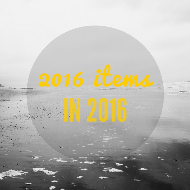 This year - well in March - I decided to see how many things I could get rid of in the year.  I set myself a target of 2016 items, I'm not sure if I'll make it but it'll be interesting to see how it goes