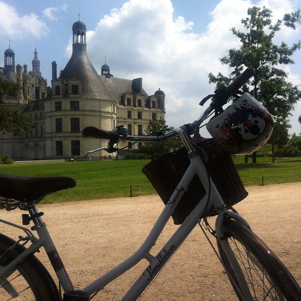 MY BIKE AND THE CHATEAU DE CHAMBORD