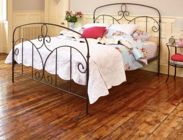 CORRINNE METAL BED FRAME Photo credit: Carpetright
