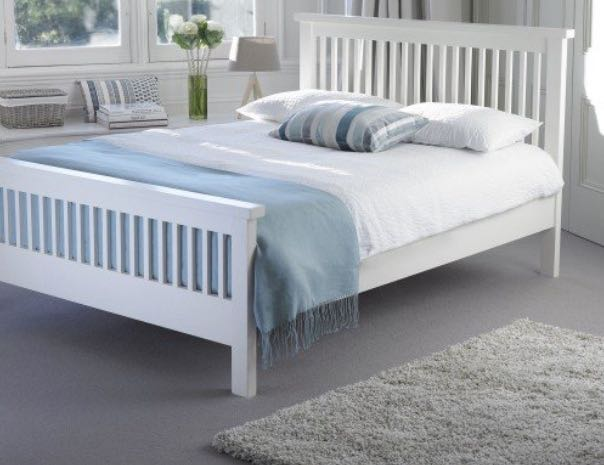 TUSCANY WOOD BED FRAME Photo credit: Carpetright