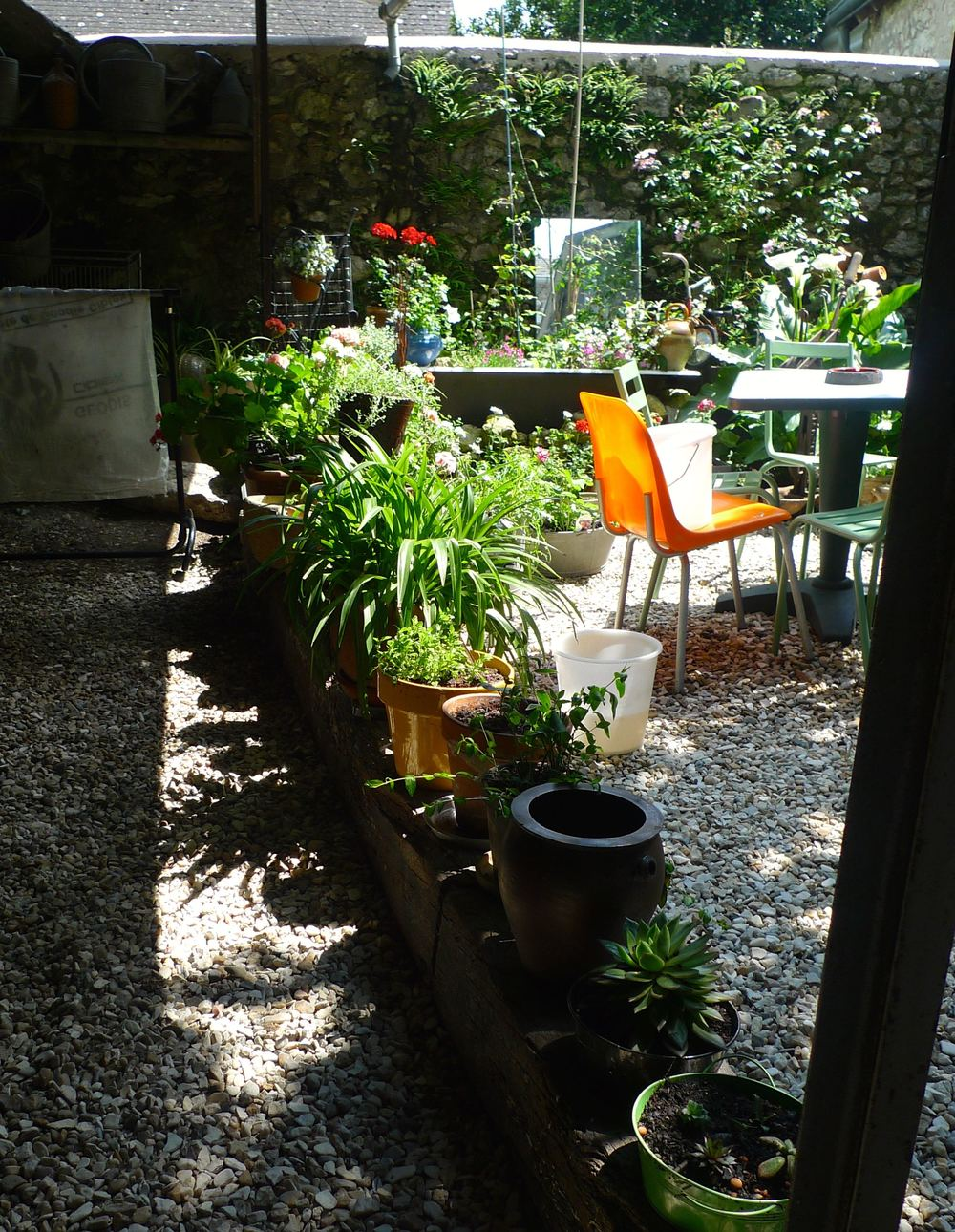 The courtyard garden