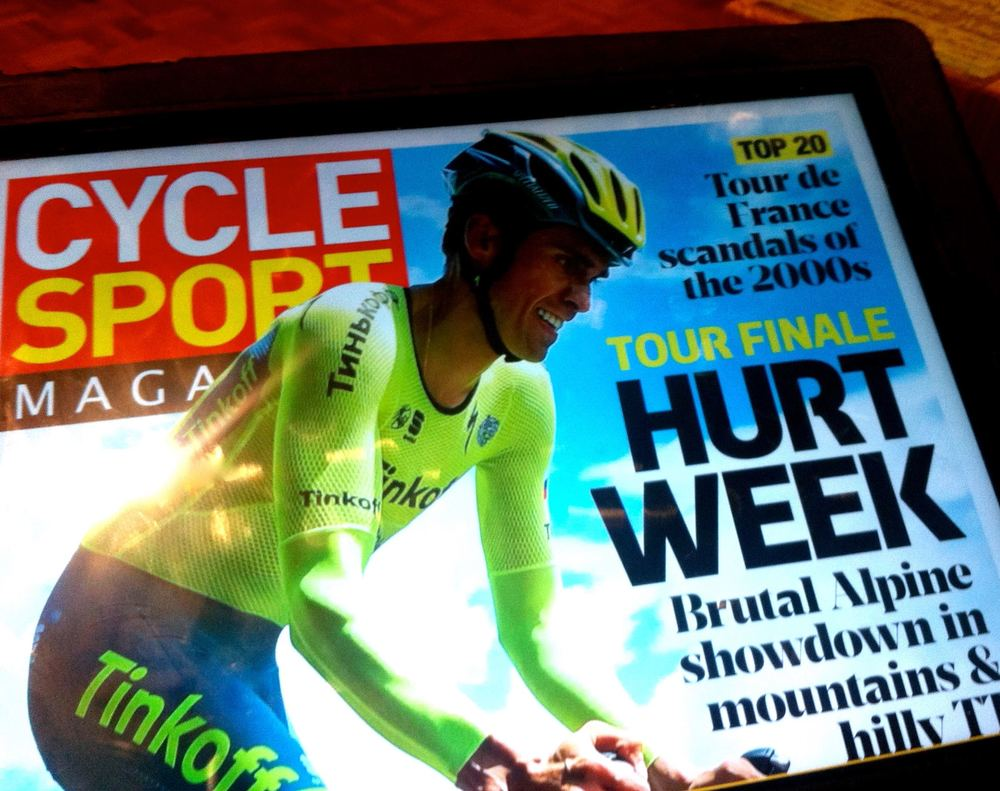Cycle Sport Magazine is also available to read digitally on Readly