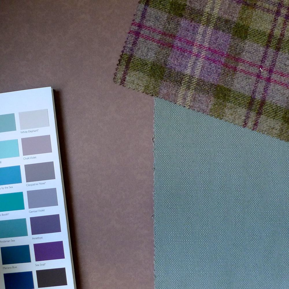 A HEATHER BACKGROUND WITH PURPLE AND BLUE PAINT CHARTS AND WHITEWELL AND HOLYROOD