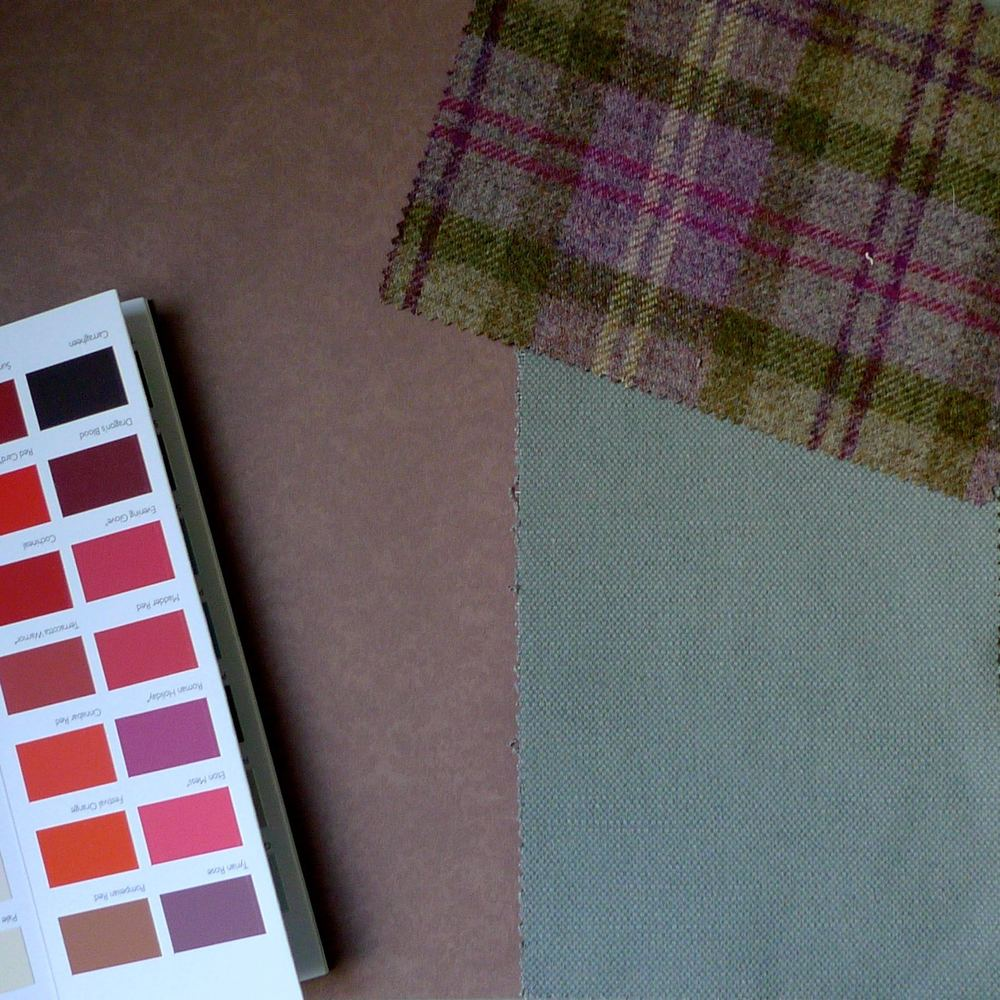A HEATHER BACKGROUND WITH A PINK PAINT CHART AND WHITEWELL AND HOLYROOD