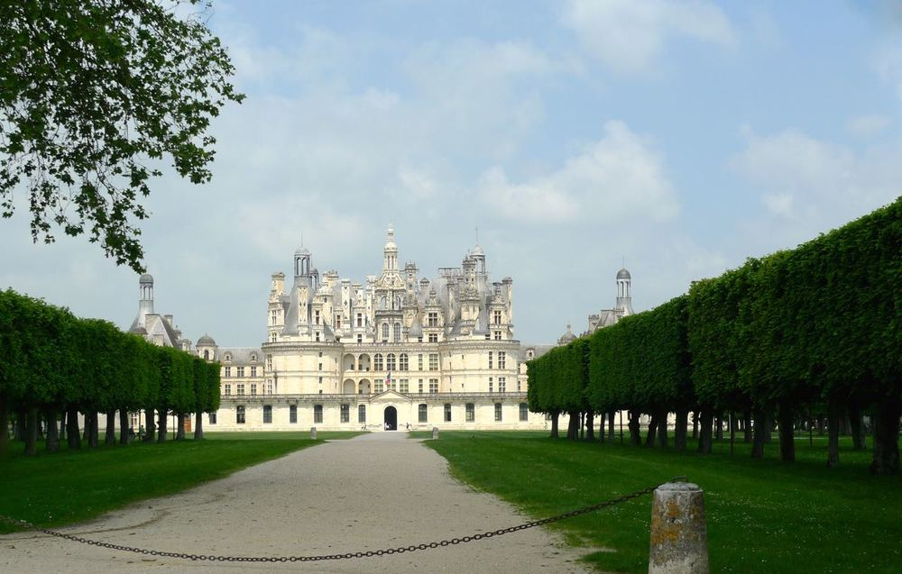 our first view of the chateau de chambord