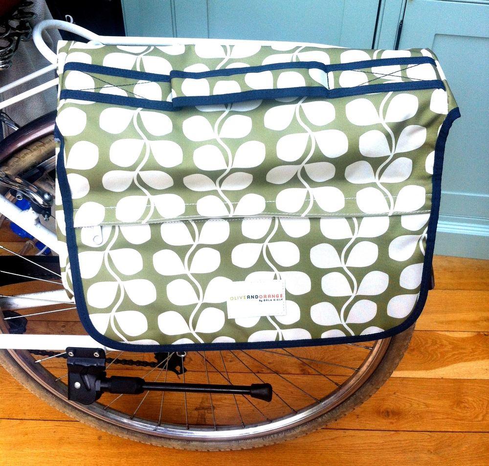 My Orla Kiely leaf patterned pannier bag