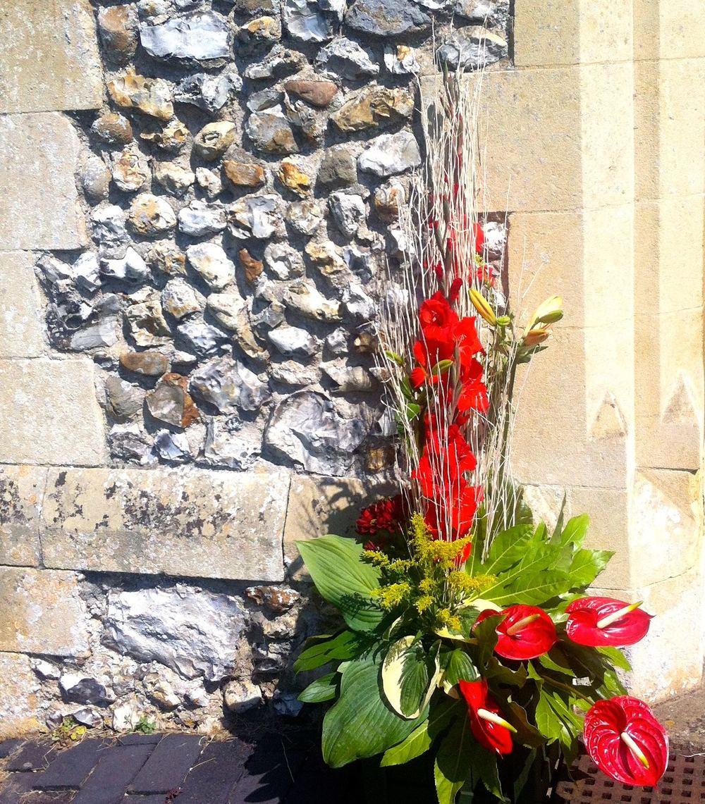 St Mary's Burnham Deepdale porch entrance arrangement