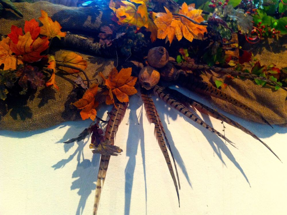FEATHERS IN THE AUTUMN ARRANGEMENT