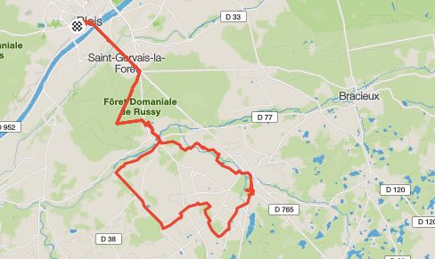 OUR 33 MILE ROUTE TICKING OFF THE CHATEAUX