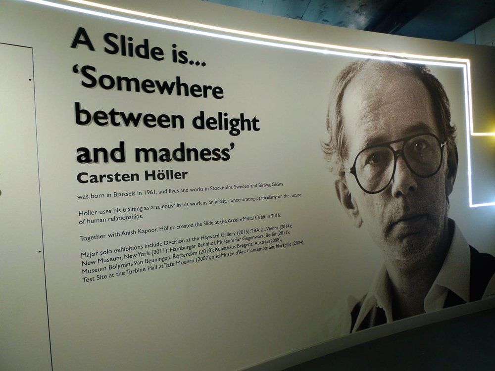 A slide is somewhere between delight and madness