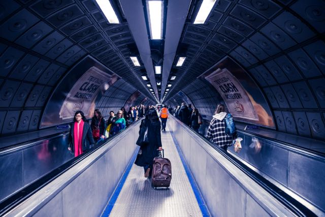 On the tube in London - Unsplash