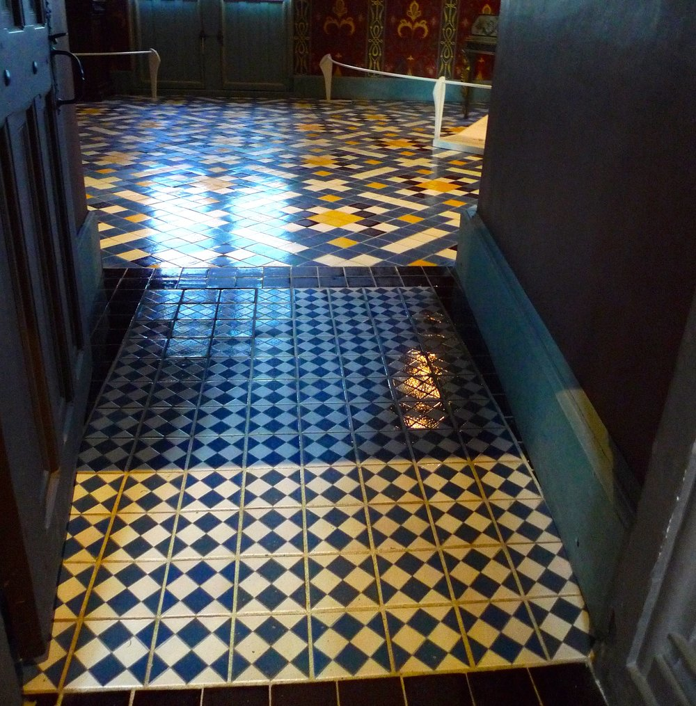 A very fancy - and shiny - tiled floor