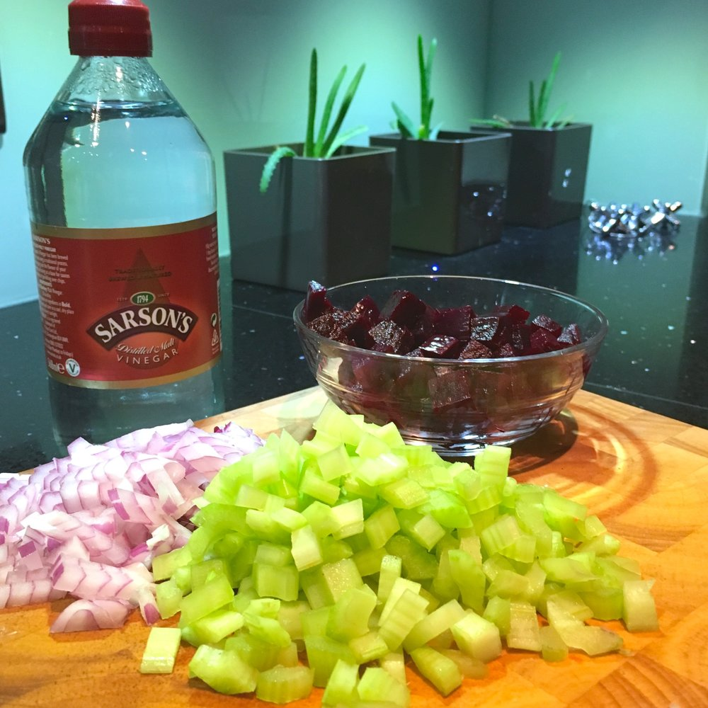 chop the ingredients