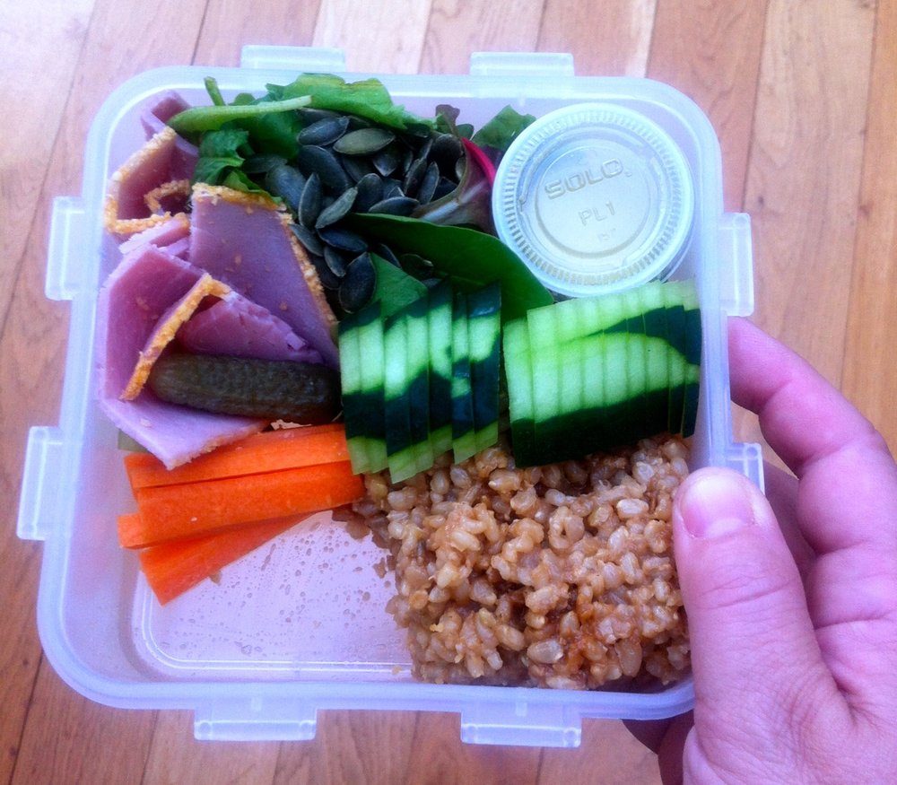A PINK SALAD SIZED HOLE IN MY LUNCHBOX