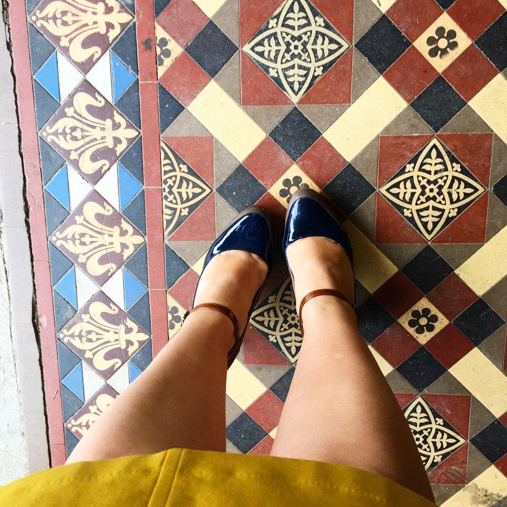Pretty tiles in the porch