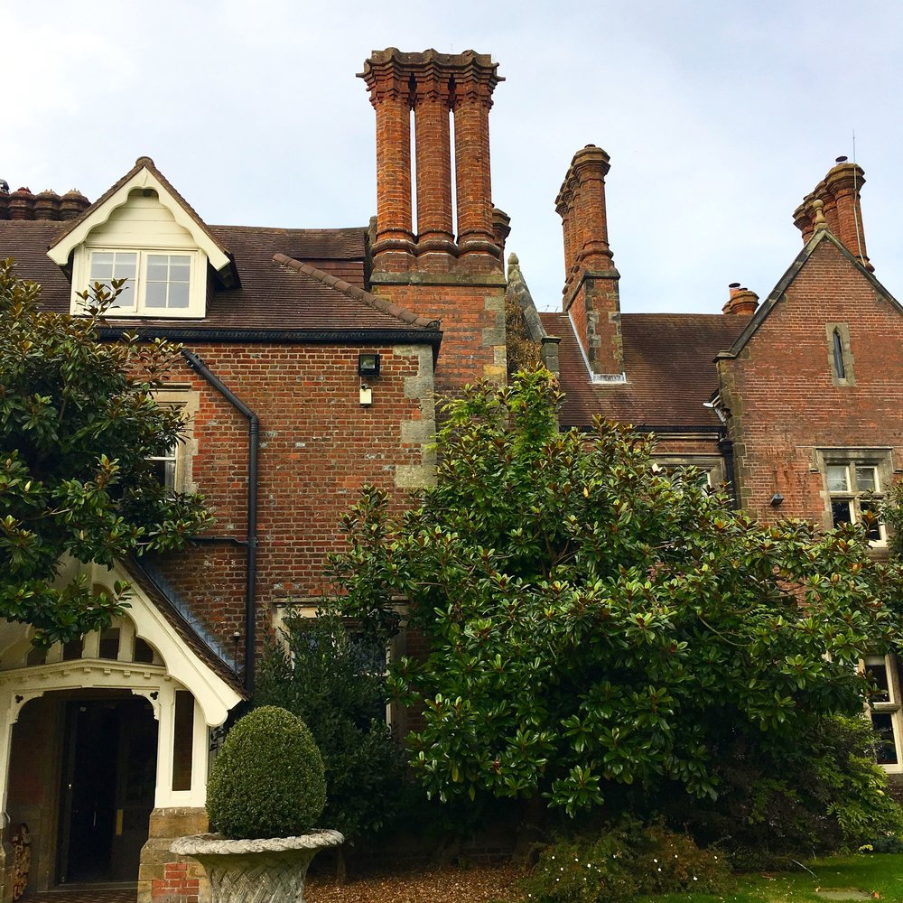 alexander house hotel in west sussex with some fabulous chimneys
