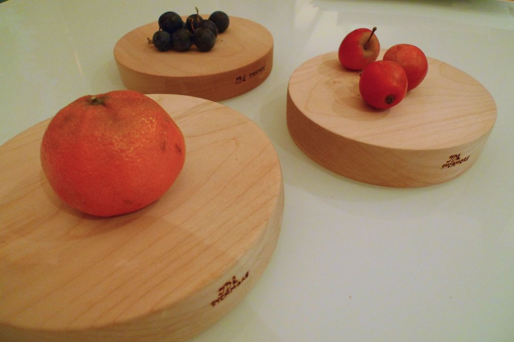 Three wooden boards, ideal for food