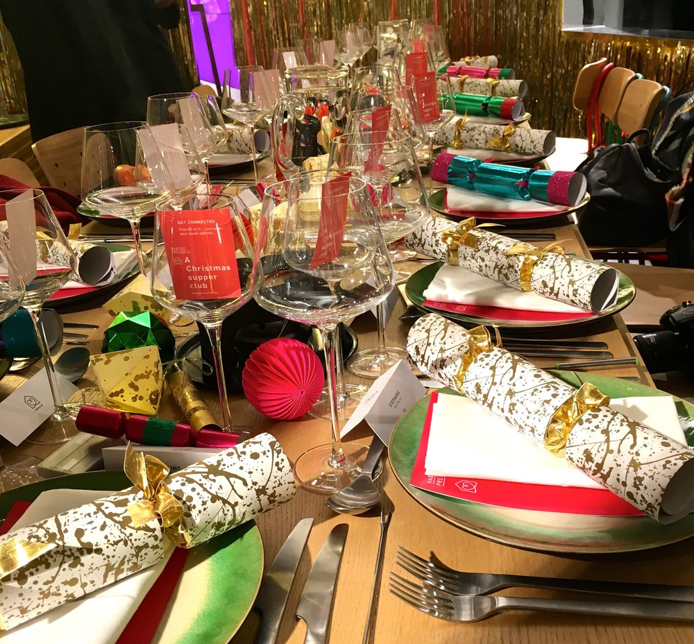 A riotous Christmas table just as Christmas tables should be