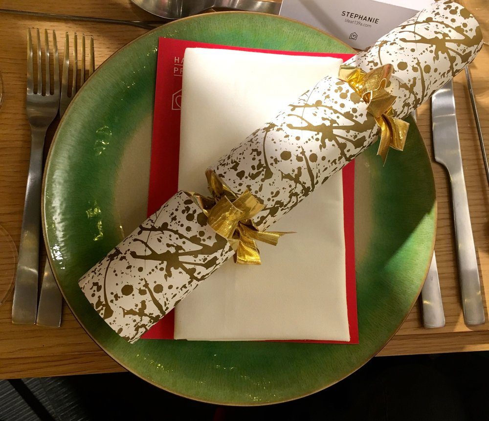 A Habitat Christmas Supper Club place setting
