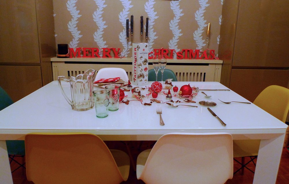 A christmas table with TK Maxx