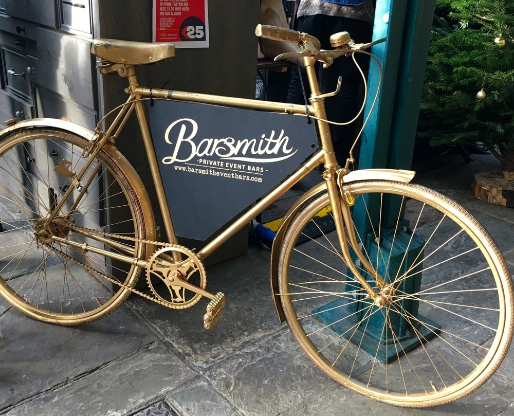 And who wouldn't want a golden bike?
