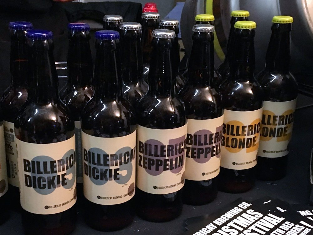 Tasting some of the brews from the Billericay Brewery