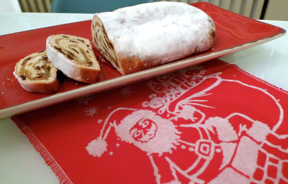 Stollen and my Christmas stocking, which surely must make the stollen mine too?