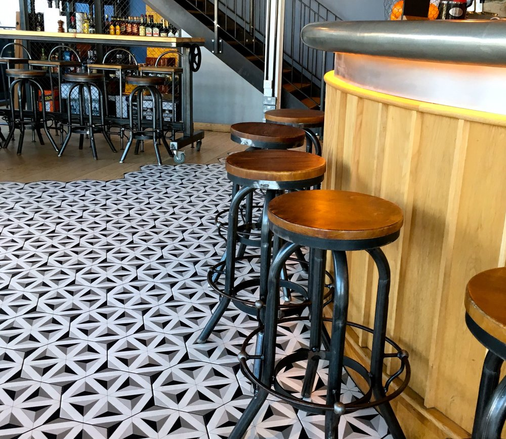 I can't resist showing you another shot of the gorgeous floor